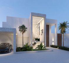 Modern Villa in Monte Mayor – Modern Villas Minimalist Architecture, Modern Architecture House, Architectural Design House Plans, Architecture Design, Chinese Architecture, Futuristic Architecture, Design Hotel, Design Suites, Design Design