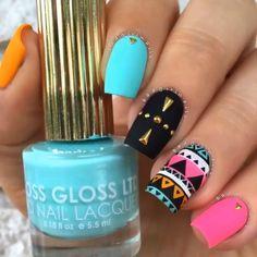 Colorful nail art design - Geniales diseños para uñas