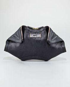 Alexander McQueen : De-Manta Calfskin Clutch Bag