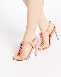 ASOS HOTTIE Embellished Heeled Sandals