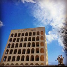 Colosseo quadrato, EUR district #rome #noidiroma #colosseoquadrato #buongiornoRoma #instaroma #roadmance #iphoneonly #sky