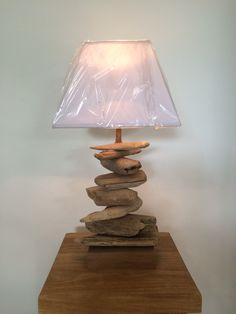 Lampe en bois flotté 55