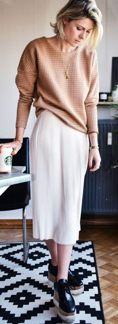 Blush And White Office Inspiration Outfit