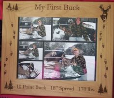 Capture that First Hunt with a personalized frame!   www.springbrooklaser.com