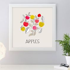 New print perfect for a kitchen or dinning room wall