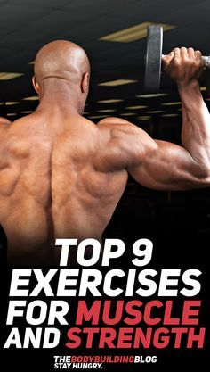 Check out the top 9 exercises for muscle growth and strength development! #fitness #gym #exercise #exercises #workout #muscle #strength #bodybuilding