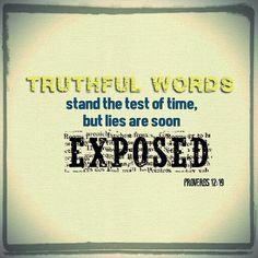 Proverbs 12:19 NLT