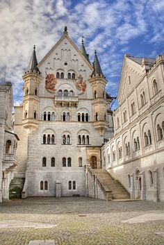 courtyard, Bavaria, Germany- lovely castle- proud if my home country!Castle courtyard, Bavaria, Germany- lovely castle- proud if my home country! Places Around The World, Oh The Places You'll Go, Places To Travel, Places To Visit, Around The Worlds, Beautiful Castles, Beautiful Buildings, Beautiful World, Wonderful Places