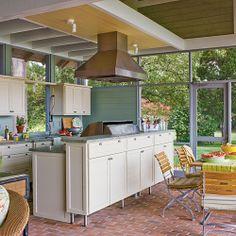 Great Porch kitchen.  Planning the interior (© Laurey W. Glenn, styling by Matthew Gleason)