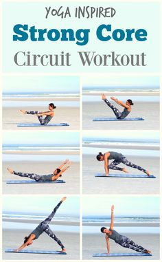 Yoga & Pilates inspired Core Strengthening Workout Series: Yoga-   Give this circuit workout a try to increase the strength of your core muscles.  Core strength in the foundation for all movement and will benefit your life in so many ways   Yoga, Pilates, Fitness, Health & Wellness Inspiration