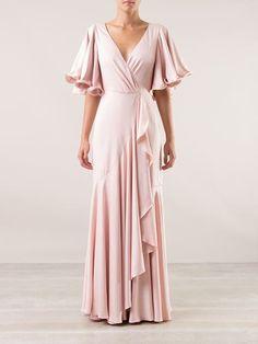 Emannuelle Junqueira Vestido Longo Nude - - Farfetch.com Modest Dresses, Casual Dresses, Fashion Dresses, Bridesmaid Dresses, Prom Dresses, Formal Dresses, Mode Hijab, Beautiful Outfits, Designer Dresses