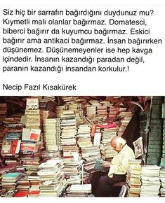 Necip Fazıl Kısakürek Caption For Yourself, Wall Writing, Good Sentences, Stephen Hawking, Meaningful Quotes, Cool Words, Book Lovers, Quotations, Psychology
