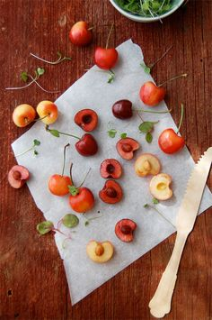 Bing and Rainier Cherries - ate pounds of these in seattle.  rainier = kickassssss