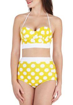 Seasons of the Sun Swimsuit Top   Mod Retro Vintage Bathing Suits   ModCloth.com