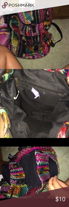 Backpack It's in very good condition just couple strings are coming off or else super good condition😊 and its rainbow color Claire's Bags Backpacks