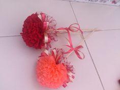 Flower from crepe paper,100% handmade...boleh buat bunga telur,:-)