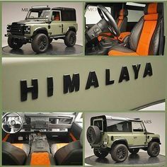 Miller Motorcars is proud to offer this 1997 Land Rover Defender 90 Himalaya. Each Himalaya Edition is hand built and made to to order,… Suv Cars, Jeep Cars, Jeep 4x4, Land Rover Defender 130, Defender 90, Landrover Defender, Audi, Bmw, Porsche