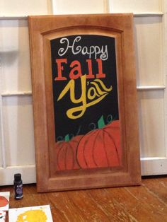 Happy Fall Y'all! Follow us at Krusen Creations on Facebook and Instagram. #fallporchdecor #fall