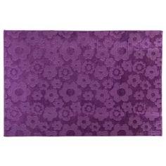 Alfombra Flores 61x91cm púrpura-Sodimac.com