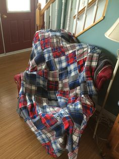 Recycled Flannel Shirts into a a beautiful Quilt More