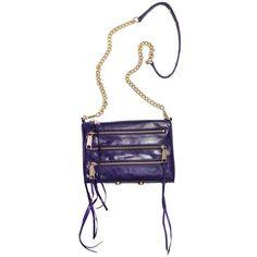 Rebecca Minkoff Grape 5-Zip Mini M.A.C. Handbag