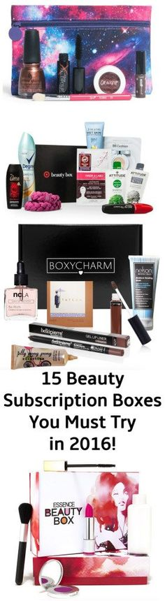 15 of the best beauty subscription boxes to try in 2016 - including Play! by Sephora!                                                                                                                                                     More