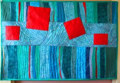Modern Abstract art quilt wall hanging WOWSERS