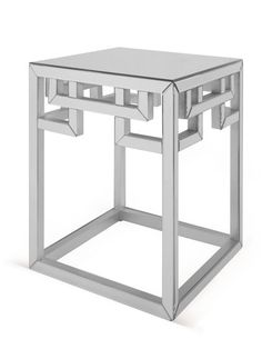 Greek Key Mirrored Accent Table By Mirror Image Home At Gilt