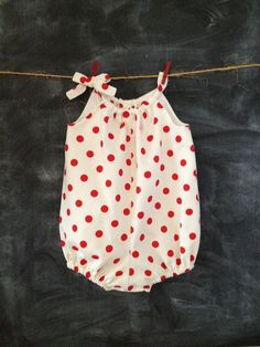 Adorable Red and White Polka Dot Pillowcase by BabySuzannaJohanna, $35.00