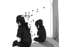 Itachi and Sasuke. This picture is actually pretty deep. Itachi has been fading away for so long.