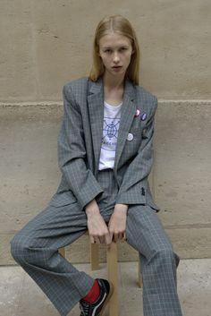 GOSHA RUBCHINSKIY Modern Mens Fashion, Grey Fashion, Women's Fashion, Nike Vans, Suits For Women, Women Wear, Girlie Style, Swag Style, Just Girl Things