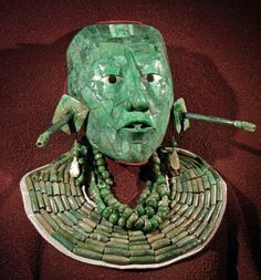 Mayan Pakal's jade death mask and jewelry.