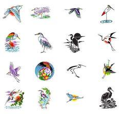 Crane tattoo design ideas from Tattoo-Art.com