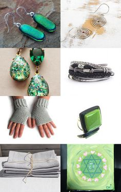 Emerald - silver :) by Cristina on Etsy--Pinned with TreasuryPin.com