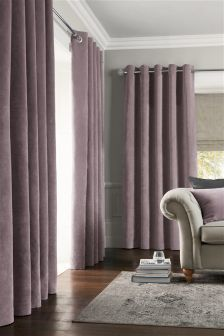 Soft Velour Pencil Pleat Curtains (101237X56) | £65   £105
