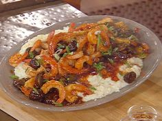 Nola's Shrimp and Smoked Cheddar Grits from CookingChannelTV.com