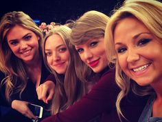Kate Upton, Amanda Seyfried, Taylor Swift, and a friend at a Knicks game on Nov. 12, 2015.