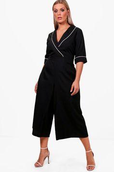 33adb0f65c2 Plus Tailored Culotte Jumpsuit