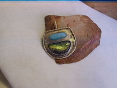 Natural Aquamarine and Labradorite solid sterling by WearableArt1