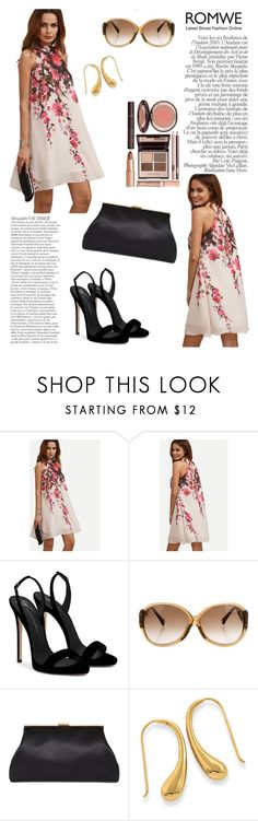 """""""Multicolor Floral Cutout Sleeveless Shift Dress"""" by manuelsbolli ❤ liked on Polyvore featuring Giuseppe Zanotti, Louis Vuitton and Charlotte Tilbury"""