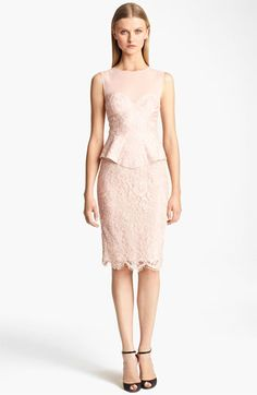 Emilio Pucci Peplum Lace Dress available at #Nordstrom