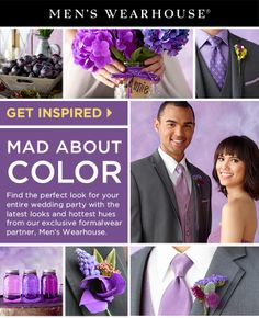 Find the perfect look for your entire wedding party with the hottest hues and the latest looks. Get this #wedding look: www.mensw.com/1infibM