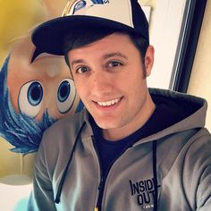 """Nick Pitera watching """"Inside Out"""" on opening day. Love the attire! ❤️"""