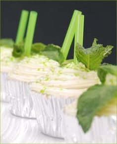 Mint Julep Cupcakes. Fun for a Kentucky Derby party.