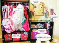DIY Dress Up Station w Vanity and closet