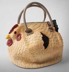 Clucking Clutch Bags : Chicken Handbag