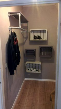 Simple hanging rack with shelf #KeeKlamp