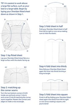 Au Lit Fine Linens U2013 How To Fold A Fitted Sheet.