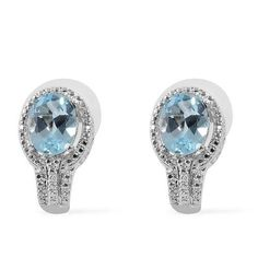 Orchid Jewelry Simulated Blue Topaz Solitaire Style Ring Sterling Silver 4.14 Carats Sizes 6 to 9