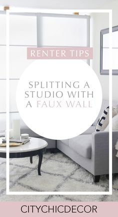 Before/ After: Chic Meets Glam Inside a NYC Studio Apartment - Live in a studio apartment and need to create a room divider? Need some studio apartment inspiratio - Nyc Studio Apartments, Studio Apartment Living, Modern Apartment Decor, Studio Apartment Layout, Studio Apartment Decorating, Studio Living, Apartment Interior Design, Apartment Chic, Apartment Ideas